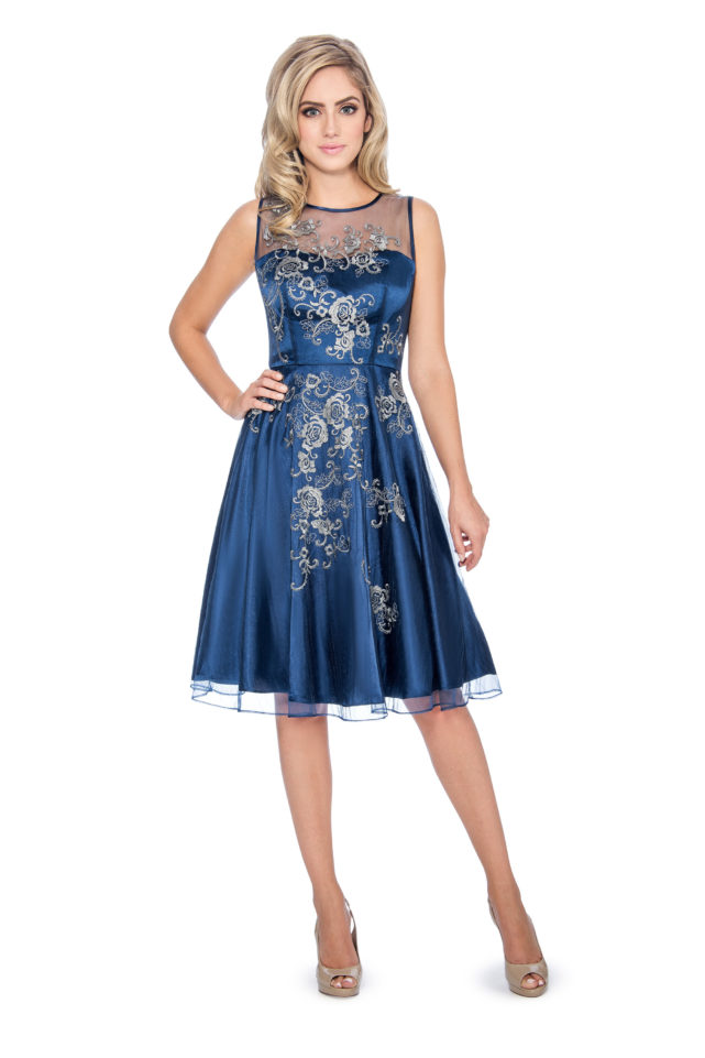 2eacf154727 Embroidery applique short dress - short cocktail dress - wedding guest dress