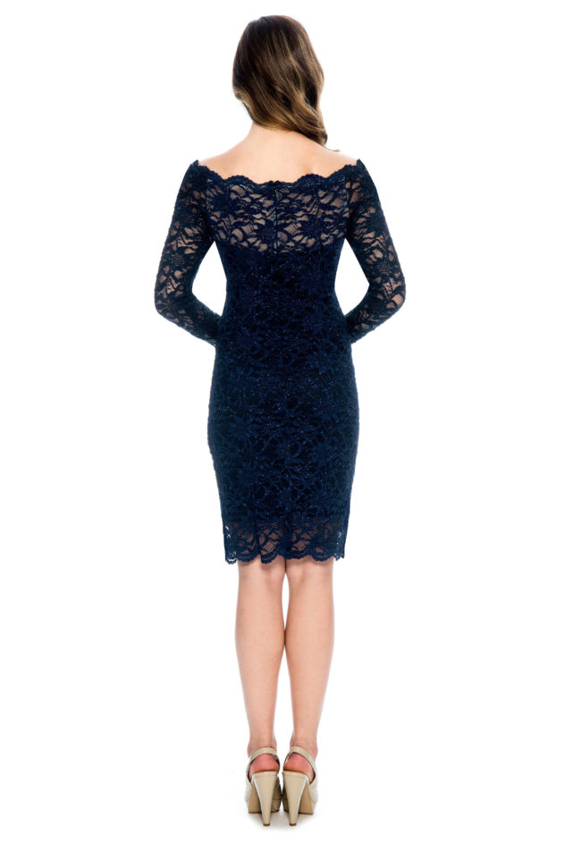 Lace long sleeve short dress - mother of bride dress - night out dress - plus size - short cocktail dress - wedding guest dress