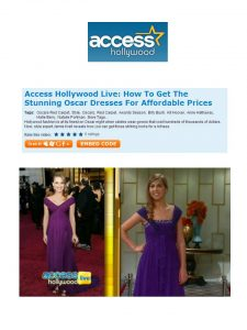 Access Hollywood Live purple dress
