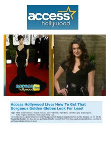 Access Hollywood Live black dress