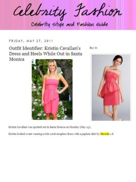 dress on celebrityfashion.onsugar.com