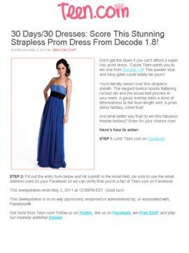 dress in teen.com