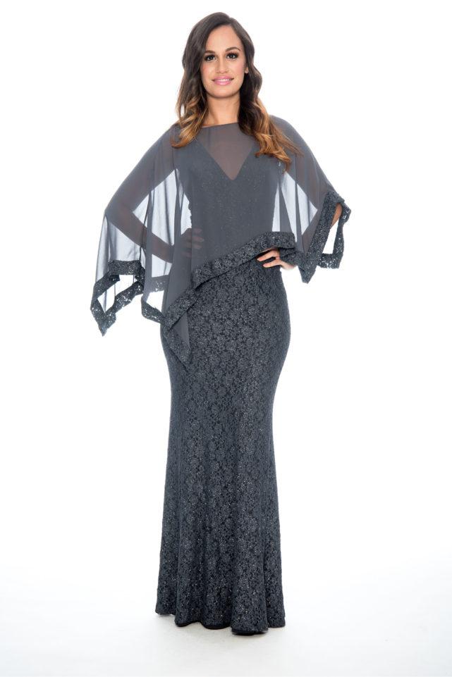 lace dress with shawl