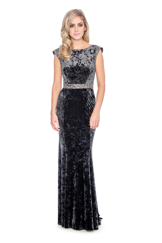 85b57046e5 Cowl back velvet long gown-formal evening dress - mother of bride dress
