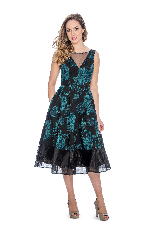 A line, print, short dress