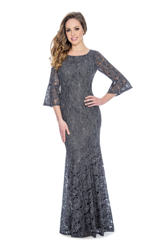 Bell sleeve, lace, long dress
