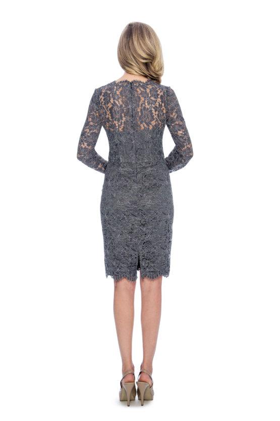 Lace, long long sleeve, short dress