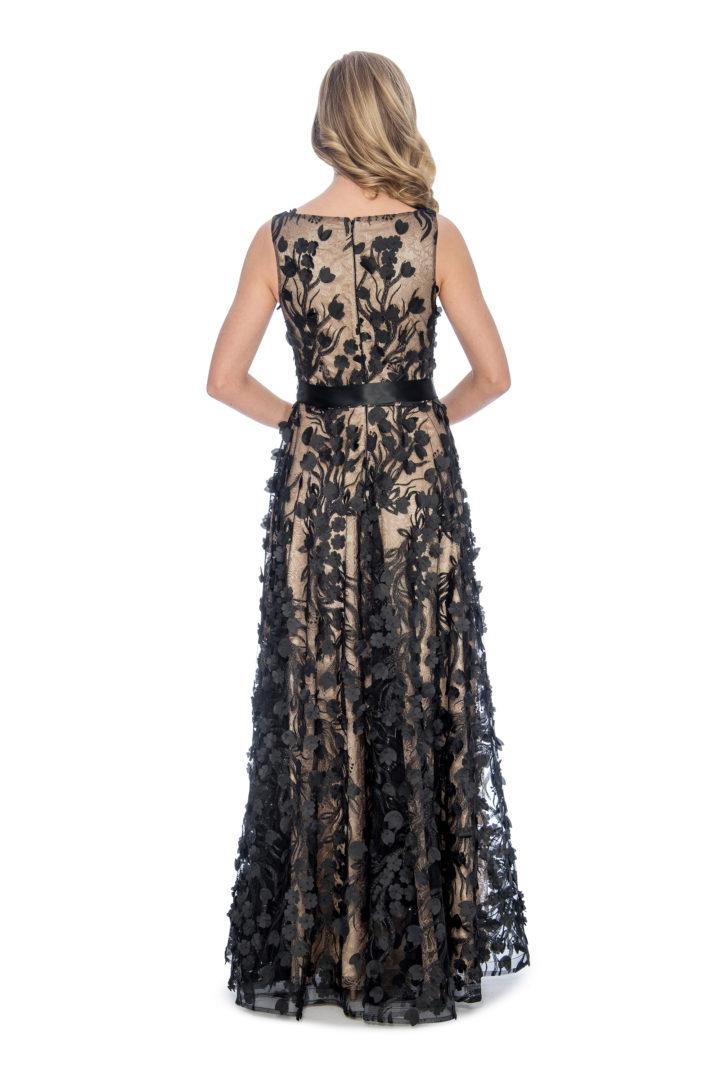 3D embroidery, ballgown, long dress