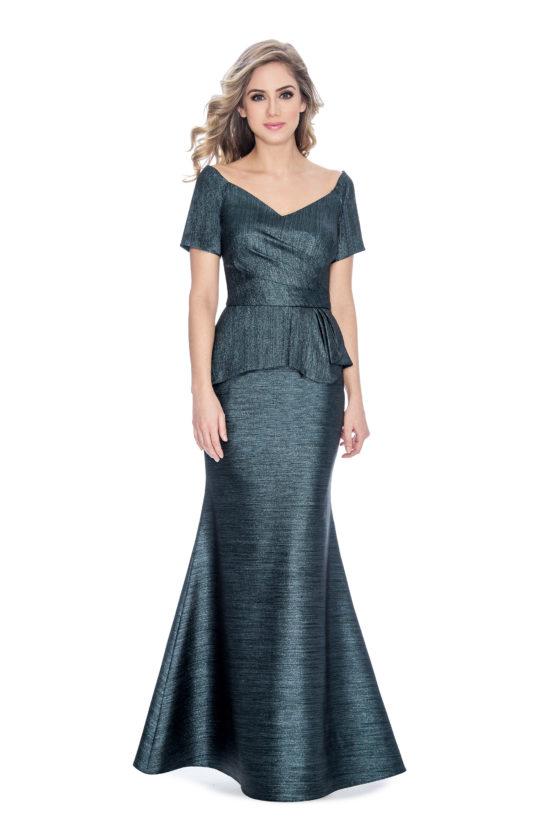 peplum, long dress