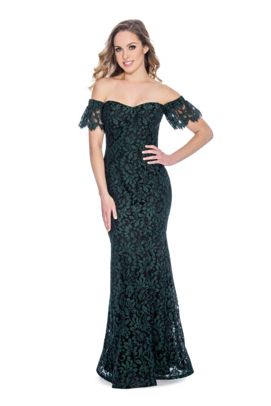 Sweetheart, lace, long dress
