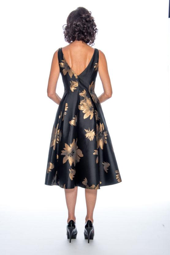 Tea length, brocade, short dress