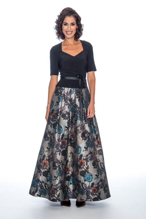 Printed skirt, long dress