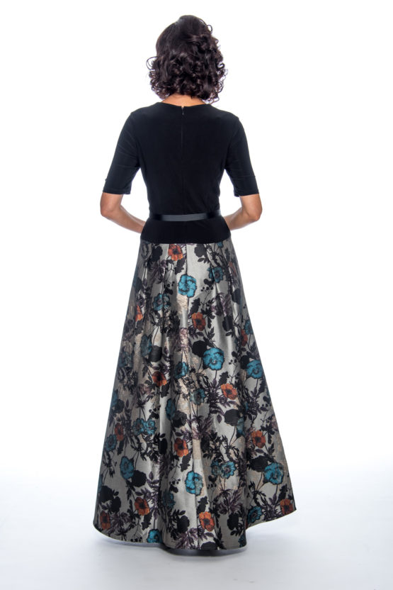 Printed skirt, long dress